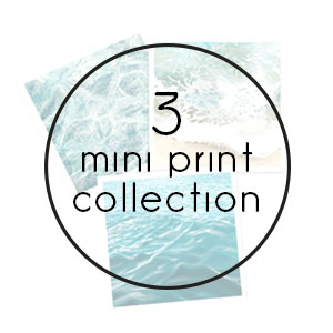 ocean mini print collection print
