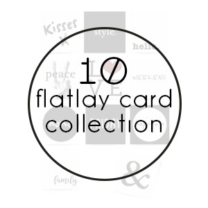 flatlay card collection print