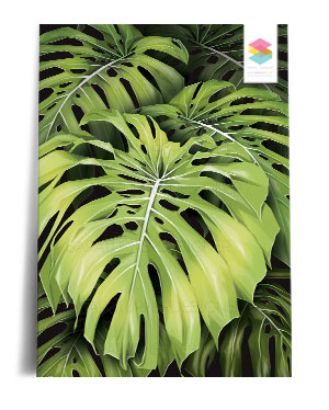 monstera-wall print