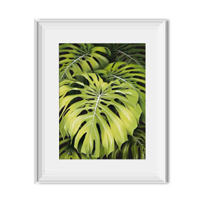 monstera wall print